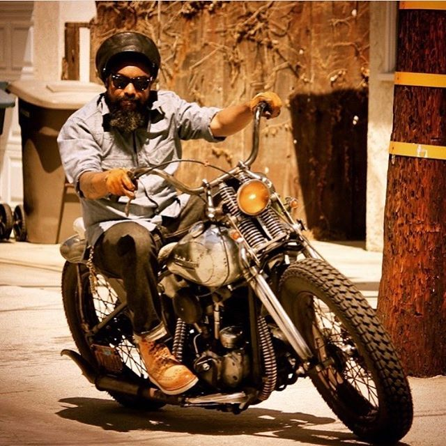 "Wil @wordisjustaword will be showing ""So What""-his 1947 Harley Davidson Knucklehead which he named after the Miles Davis song. Come check it out this Sunday at La Carretera. #lacarreterashow #harleydavidsonknucklehead"