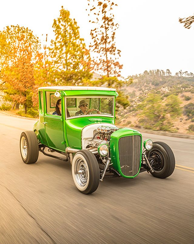 Excited to be having Gabriel and Rose Baltierra showing their 1927 Ford hot rod this Sunday at La Carretera!! Reminder this is a private event with limited tickets available, get your tickets at our website: www.lacarreterashow.com 100% of profits go to @paralosninosorg a charity benefiting LA's neediest children ❤️. #lacarreterashow photo by @evankleinfilms