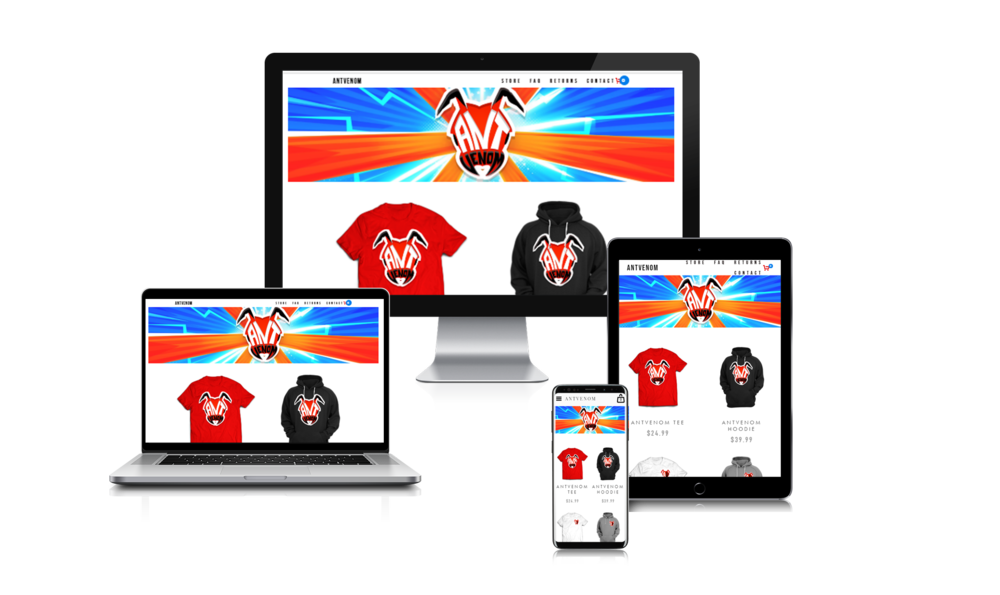 YOUR WEBSITE ONALL PLATFORMS - YOUR FANS CAN VISIT YOUR STORE NO MATTER WHAT DEVICE THEY USE