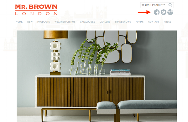 Main website of Dering Hall member  Mr. Brown London