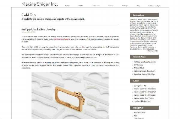 Blog of Dering Hall member  Maxine Snider, Inc