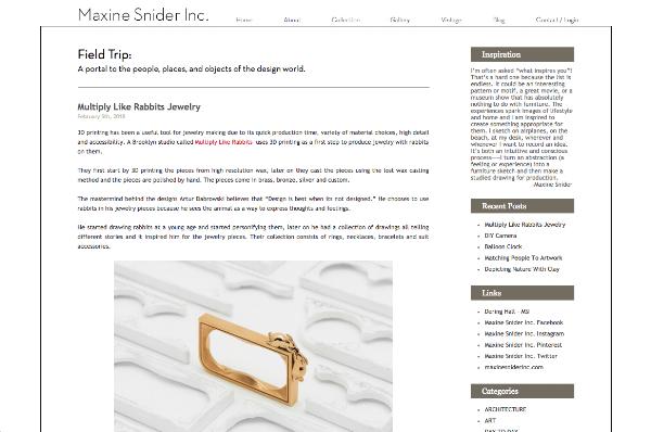 Blog of Dering Hall member  Maxine Snider, Inc