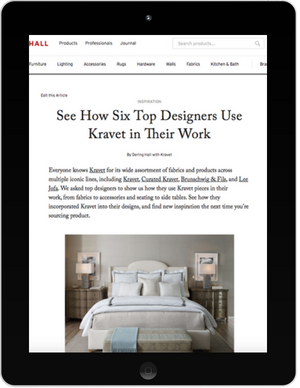 The Kravet Story as it appeared in Dering Hall