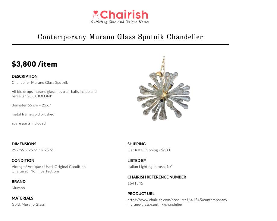 Chairish Tearsheet
