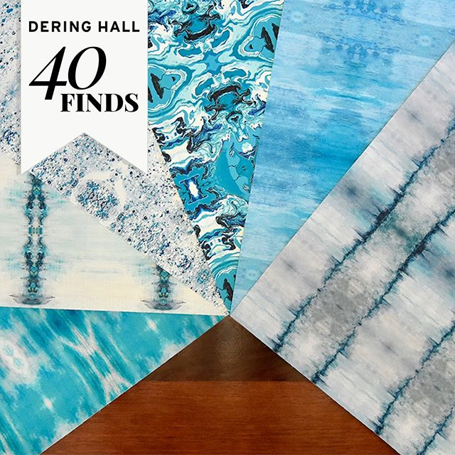 40 FINDS || Sharon Holmin Interiors is an LA-based firm that offers a line of artisanal design products, including vibrant, exciting contemporary wallpapers. These unique wallcoverings offer a wealth of choices, including grasscloths, corks, barks, and even glass-based wallcoverings, as well as gorgeous metallics, large-format murals, and abstract paper designs. To see the 10 brands featured for spring in our 40 Finds campaign for 2019, visit the #DHJournal. #40Finds #BeDering