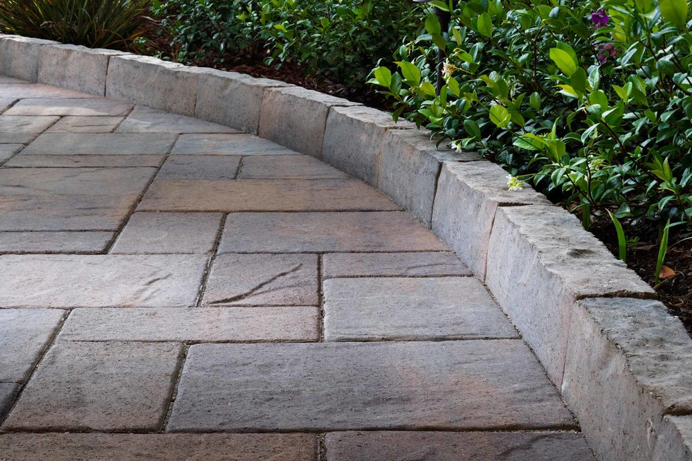 Paver Walkway Edging - Bayside Pavers, Concord, CA