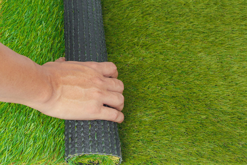 Artificial turf installation in the California Bay Area