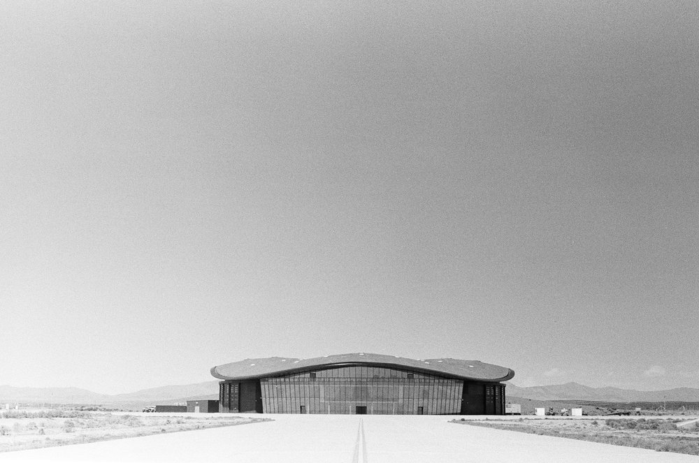 The eastern side of the spaceport.  Porter McDonald (35 mm B&W)