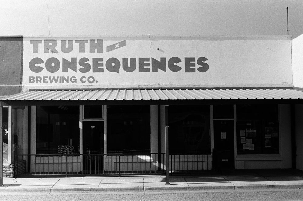 Truth or Consequences Brewing Co.  Porter McDonald (35 mm B&W)