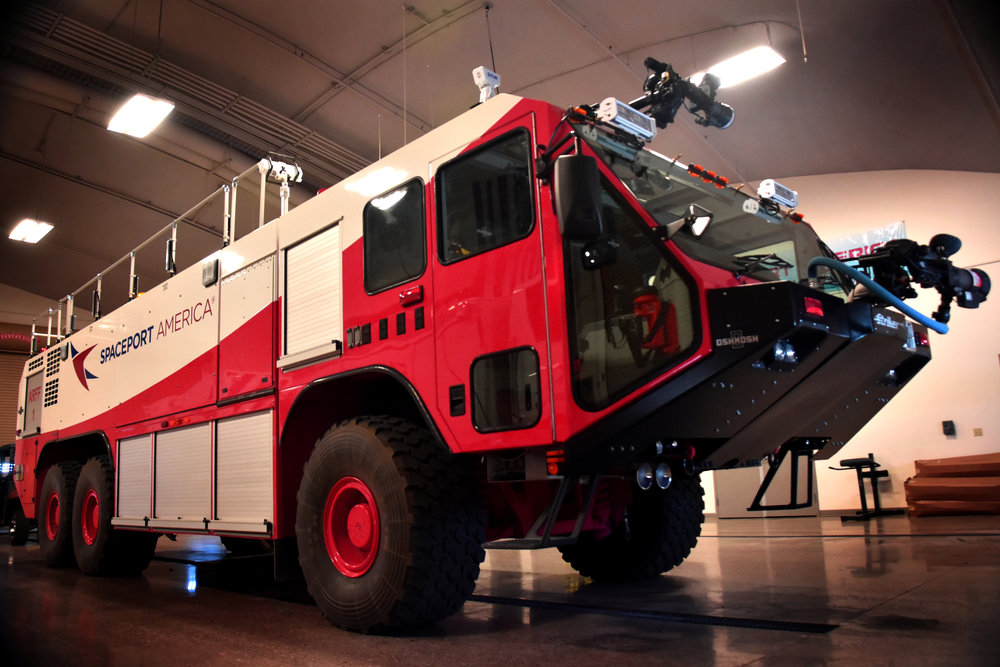 The spaceport's $1 million ARFF truck