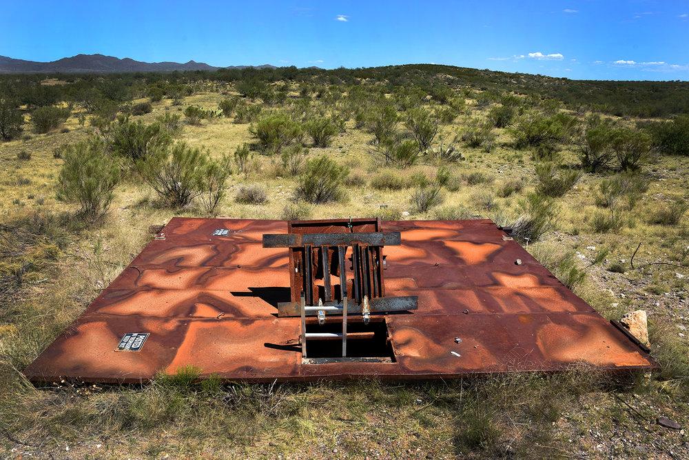 The hatch leading into the 35-foot-deep access portal. © Porter McDonald