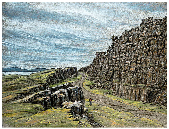 Landscape study, Thingvellir, Iceland (1988) © David A. Hardy