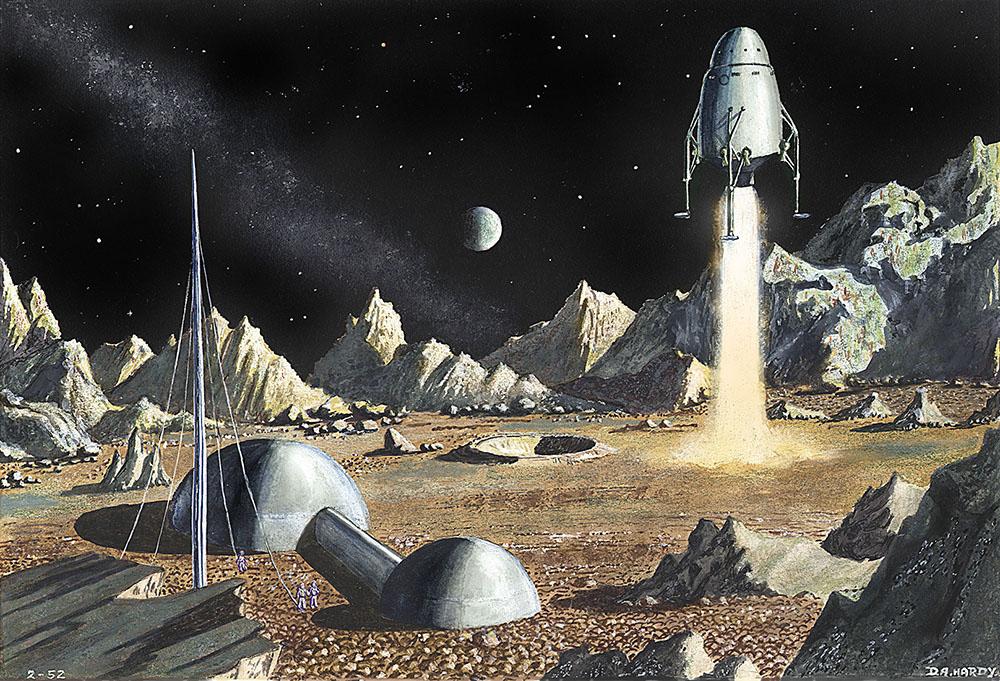 Moon Landing (1952) © David A. Hardy