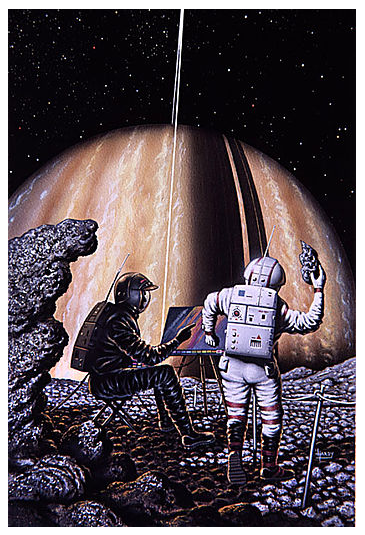 Artist on Mimas  (1994) © David A. Hardy