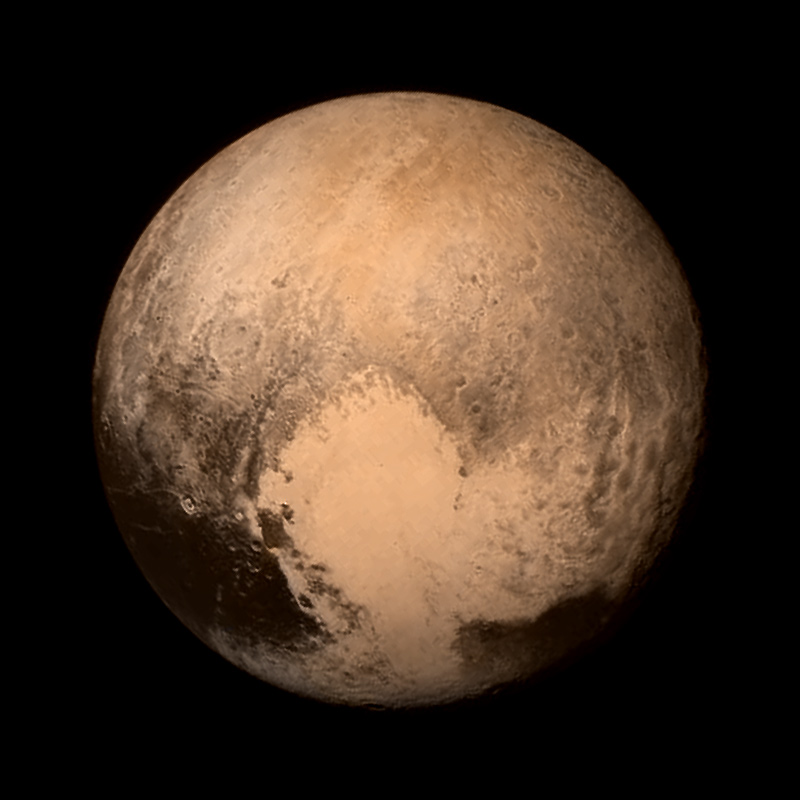 Pluto, revealed in 2015. NASA / Johns Hopkins University Applied Physics Laboratory / Southwest Research Institute