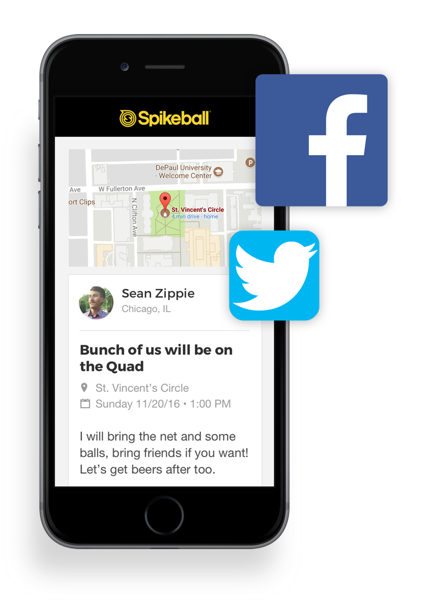 In order to make games as accessible as possible, I designed a web piece so players can share games on social media with people who may not have the Spikeball app. -