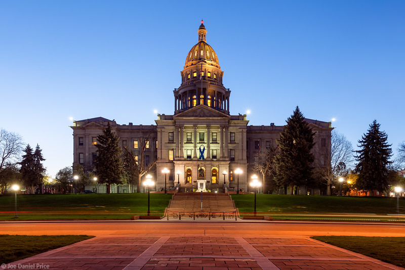 Blue Hour, Capitol Building, Denver, Colorado, America-L.jpg