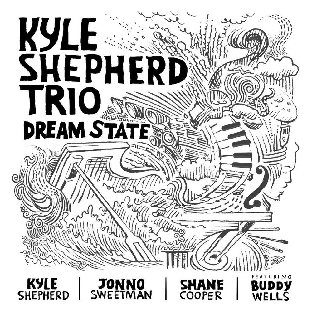 Kyle shepherd trio-dream state - I remember Kyle saying to us that he wanted to record 28 tracks and that we only had 2 days. The 1st day didn't go well as we couldn't get into the groove of things. Day 2 we were flying without leaving the ground, hence the music that was made was truly special. Quite a few 1st takes and spontaneous moments.