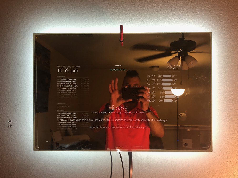 Smart Mirror Update Added Complete Smart Home Hub After