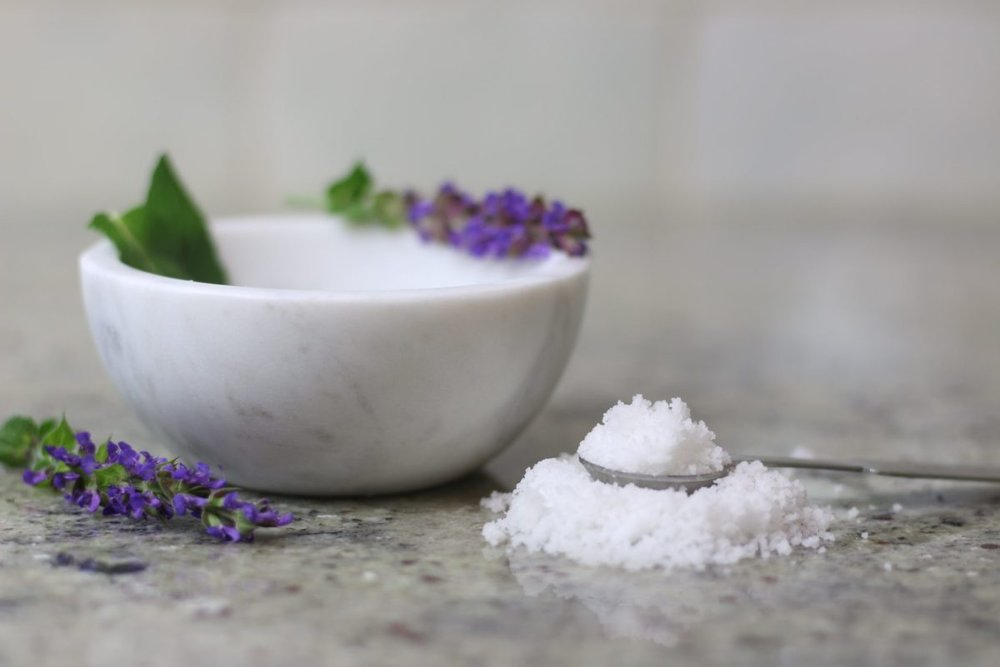 Bath Salts - If you're like me and you find your body aching and exhausted by the end of the week, look no further than these amazing salts designed for specific purposes. Whether you're looking to nourish, renew, or balance, there's a salt combo for you.