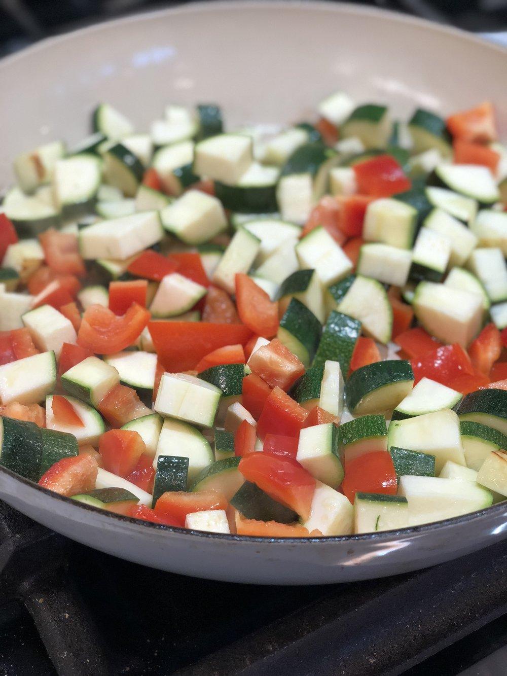 almonds and asana saute zuchinni and pepper.jpg