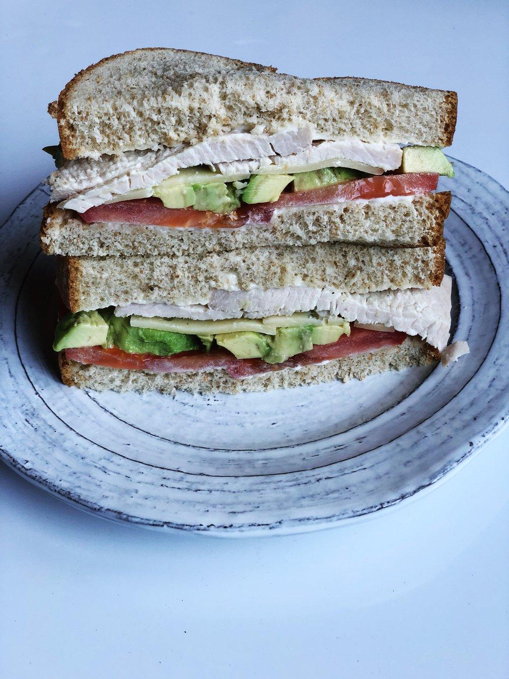 almonds and asana turkey sandwich cut.JPG