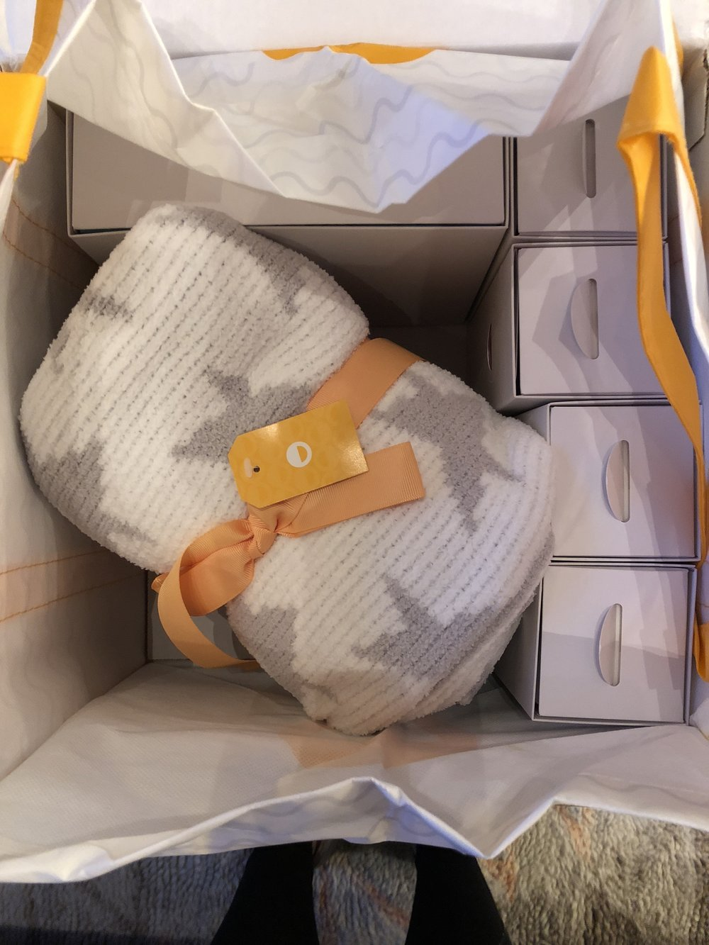 Smilo box with a blanket and lots of baby goodies!