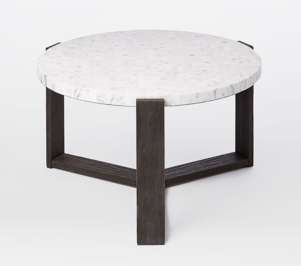 My husband has been eyeing these smaller side tables/coffee tables for a while now. A great place to gather around or to scatter 1 or 2 throughout the space for people to set down drinks
