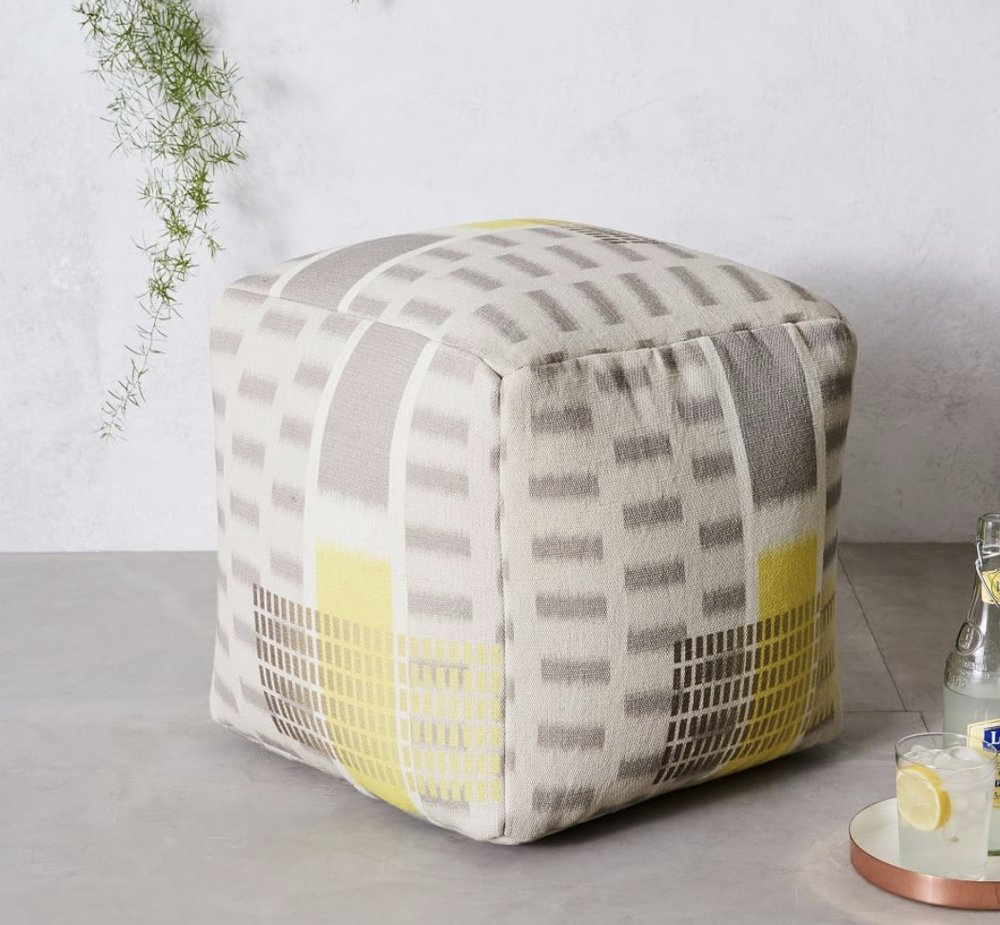 Another favorite of my husband's (and mine!) he is a sucker for poufs lol but seriously these are great extra pieces of seating or even serve as foot rests!