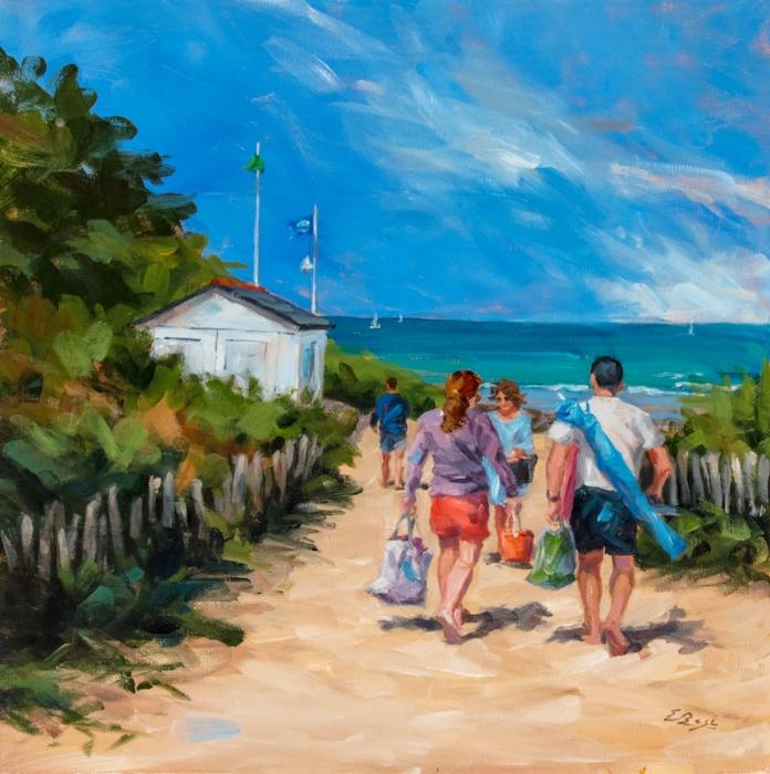 Arrivée à la plage