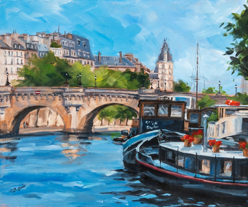 En bateau-mouche à Paris