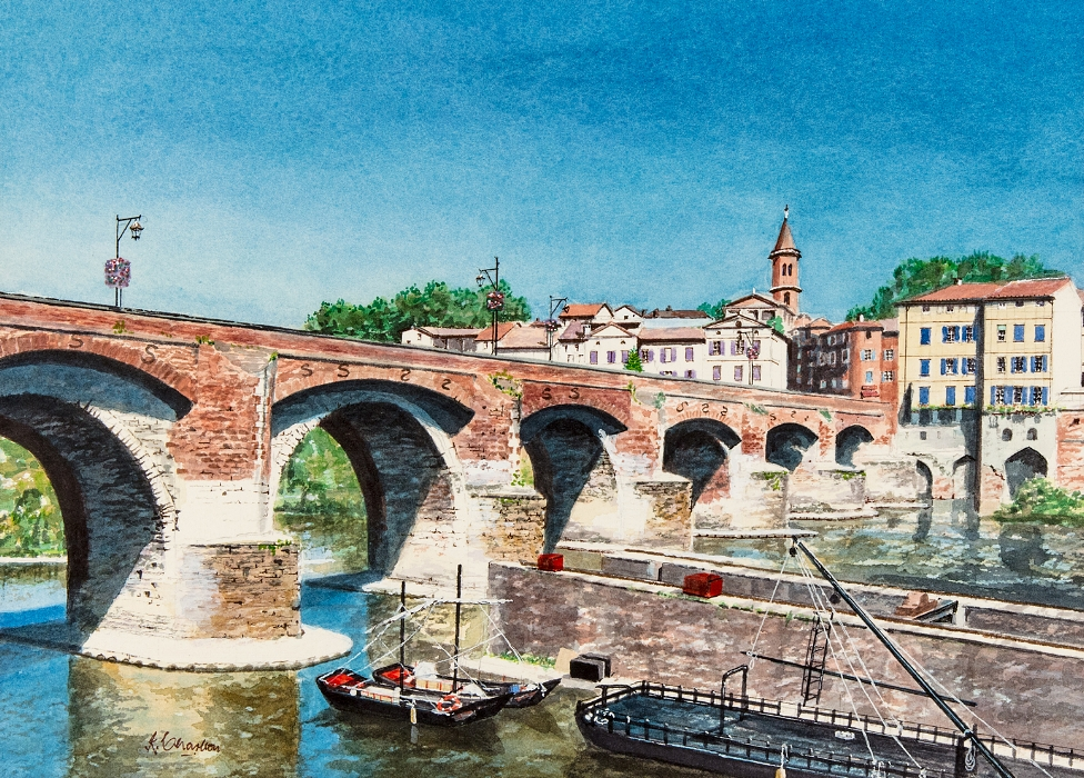 Barges On The River Tarn At Albi