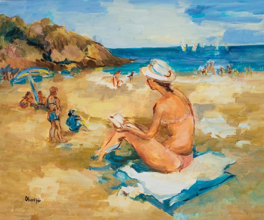 Lecture sur la plage