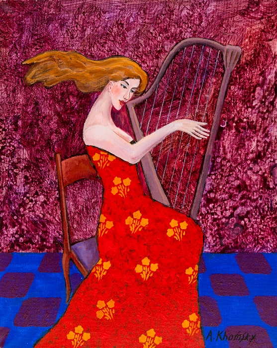 Beautiful Harpist