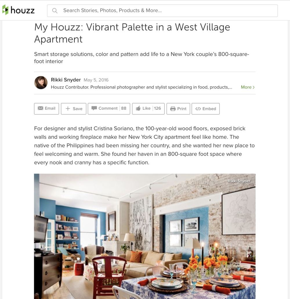 Houzz, May 2016