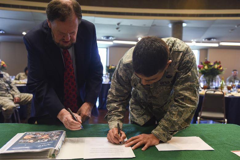 Goodfellow and San Angelo sign starbase memorandum