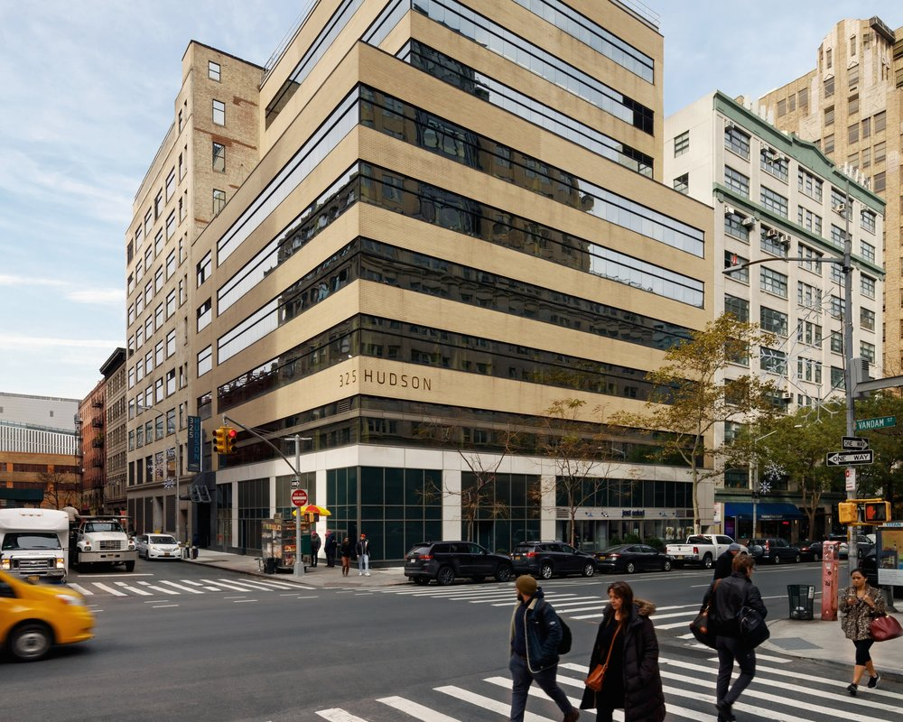 Building's Exterior at intersection of Hudson Street and Vandam