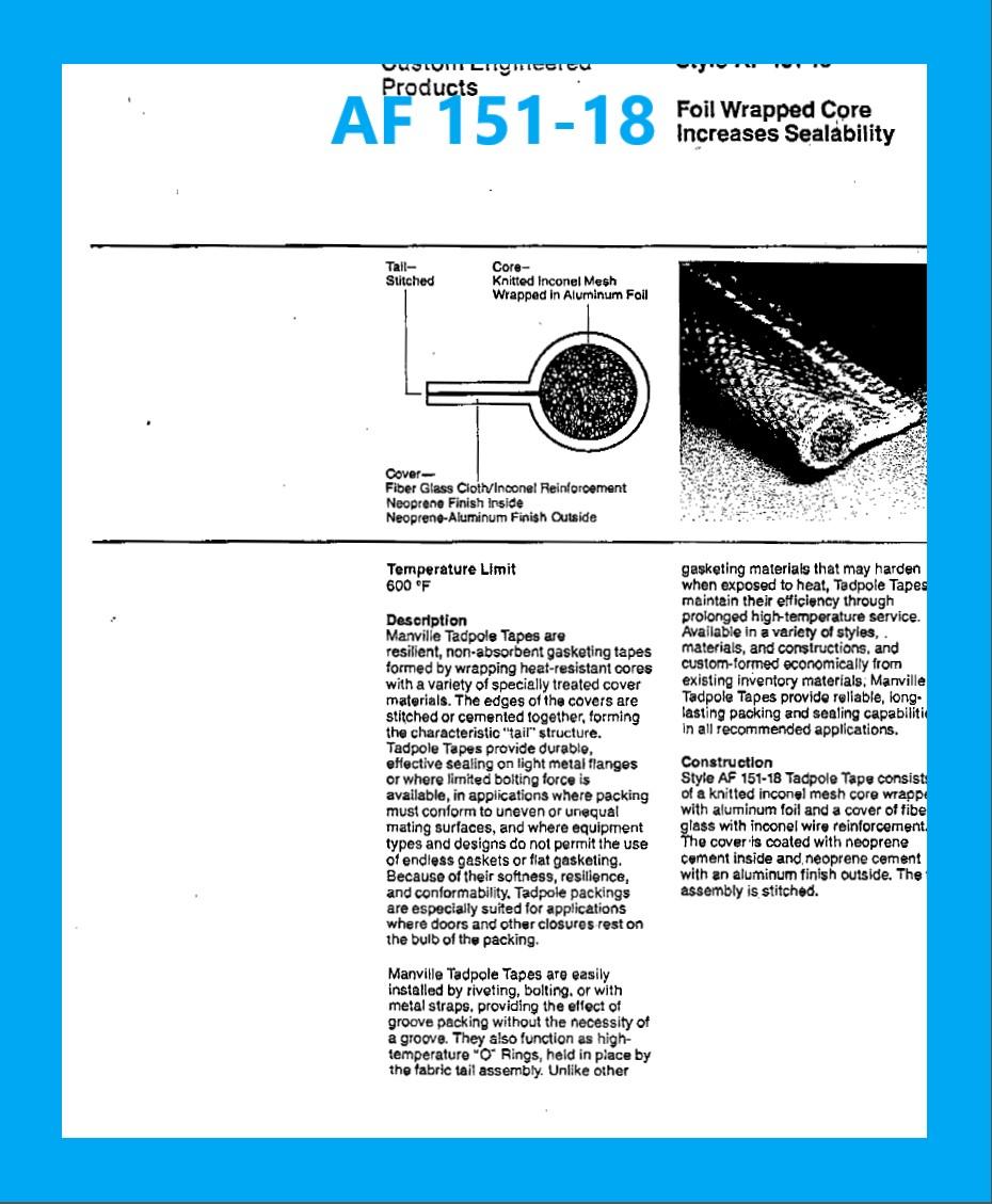 AF 151-18 DATA SHEET