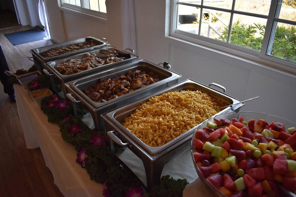 Buffet Menus -