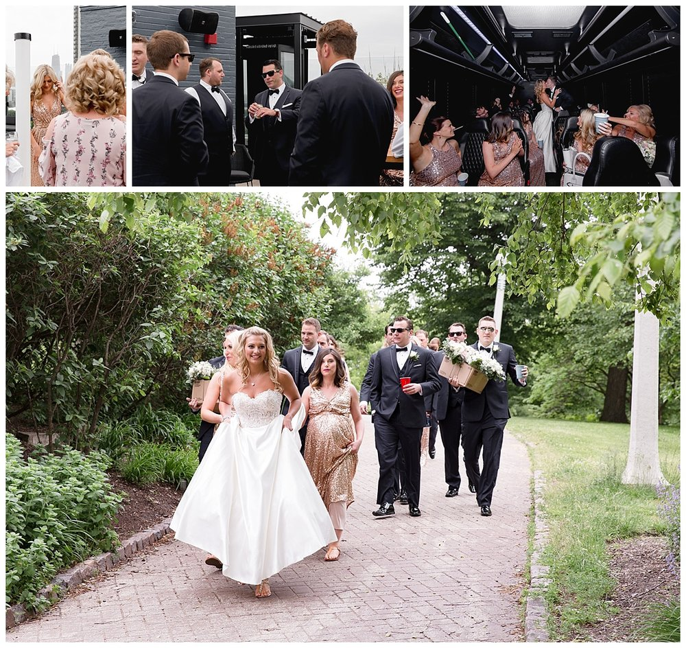 wedding guests and wedding party photographs