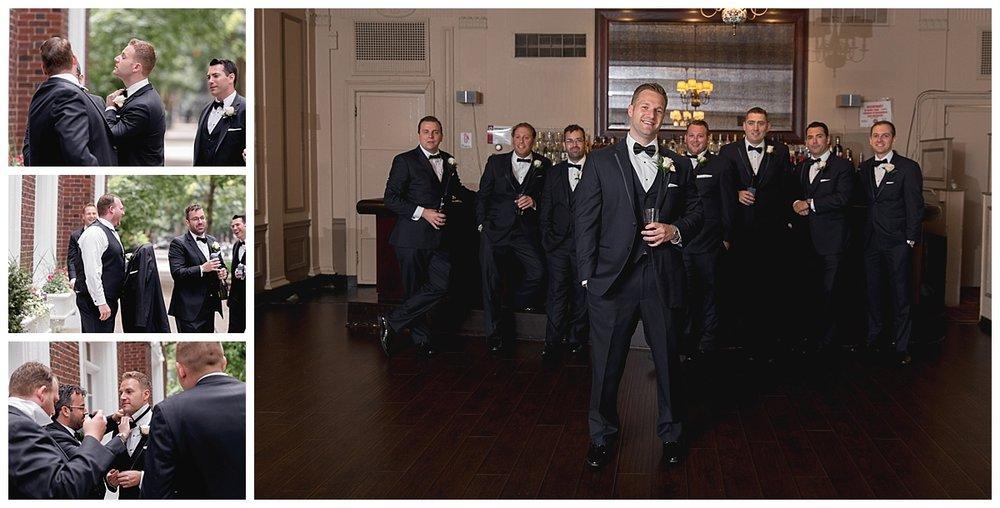 groom with groomsmen at wedding