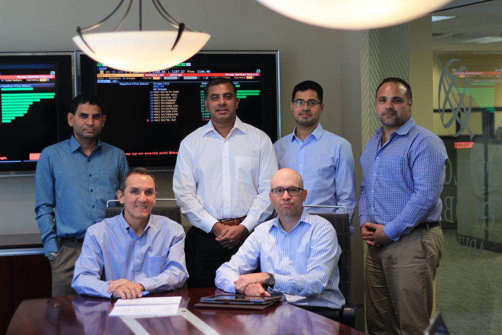 Left to right:  Vasu Kasibhotla , Analyst,  Pablo Salas , Portfolio Manager,  Sunil Parthasarathy , Analyst,  Brad Miller , Analyst & Portfolio Specialist,  Siva Natarajan , Analyst,  Matt Clemmer , Analyst