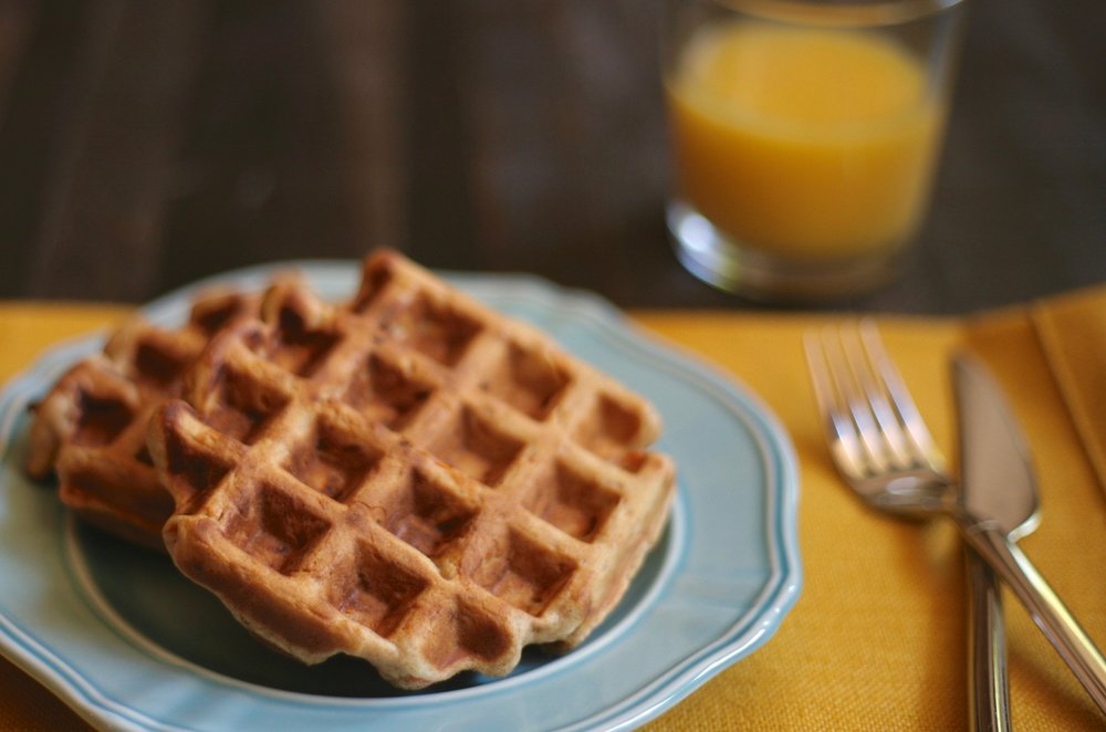 Carrot Cake Waffles: A Father's Day Breakfast Treat