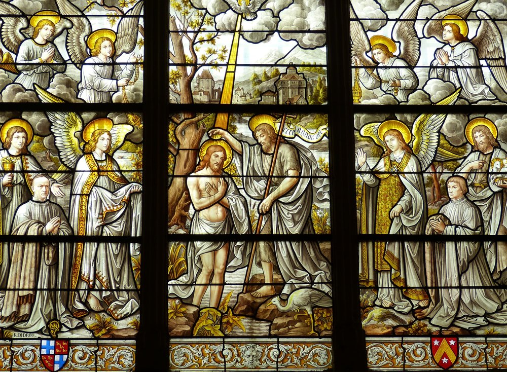 Stained Glass Baptism of Christ