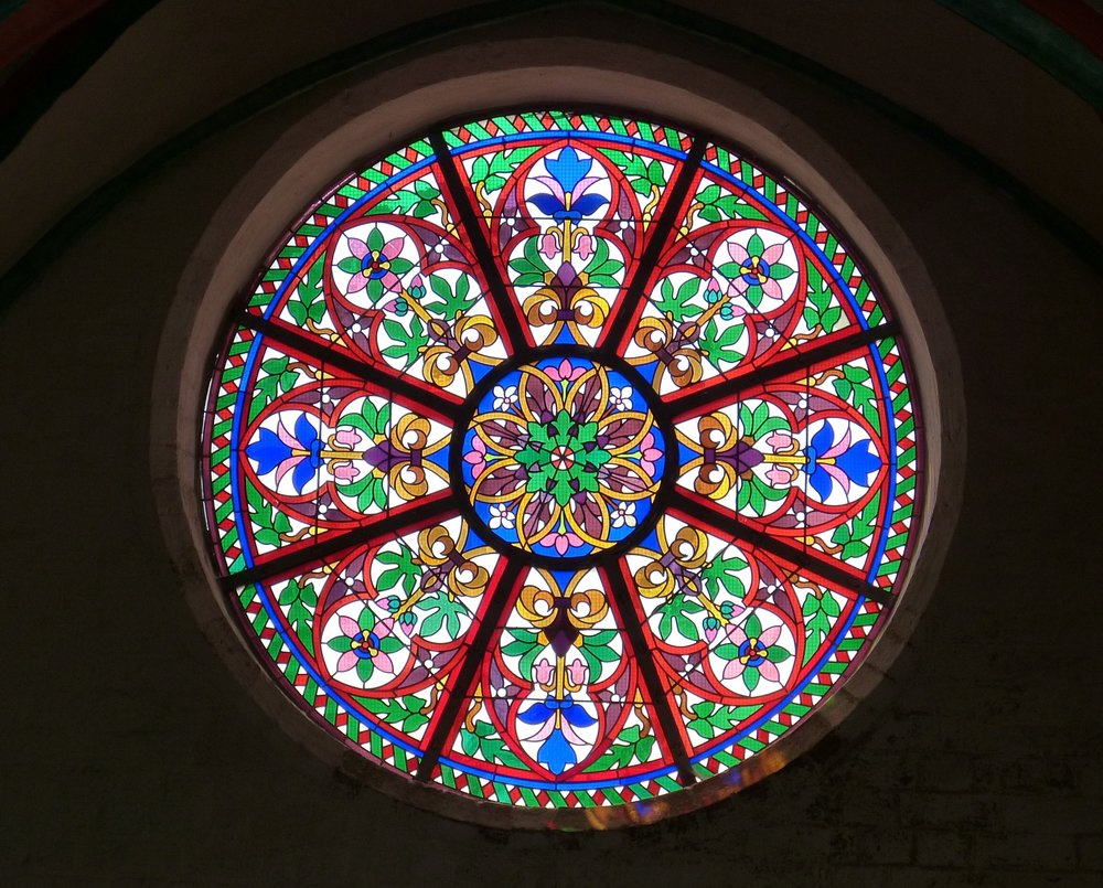 Beautiful Circular Stained-Glass Window