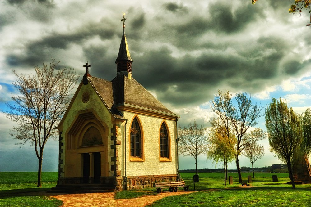 Tiny European Chapel in Country