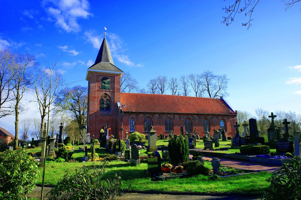 Delightful Rural Church with Cemetery