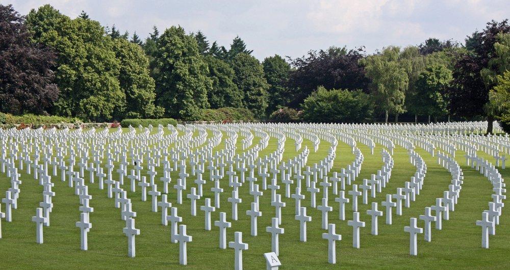 Cemetery White Gravestones