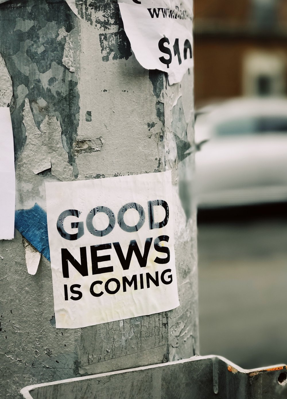 Good News is Coming Placard