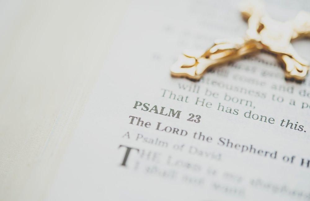Psalm 23 Cross Image